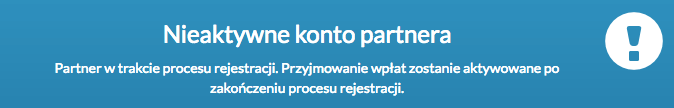 Nieaktywne konto partnera Przelewy24
