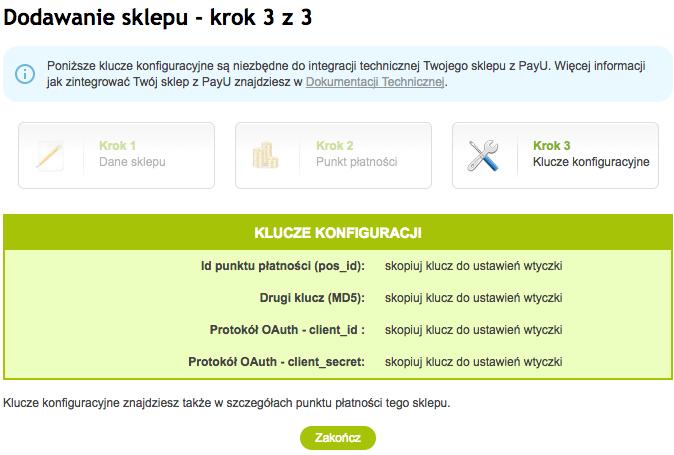 PayU WooCommerce - dodawanie sklepu, klucze konfiguracji