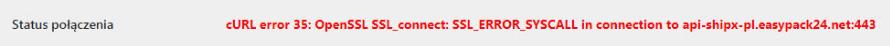 InPost cURL SSL błąd