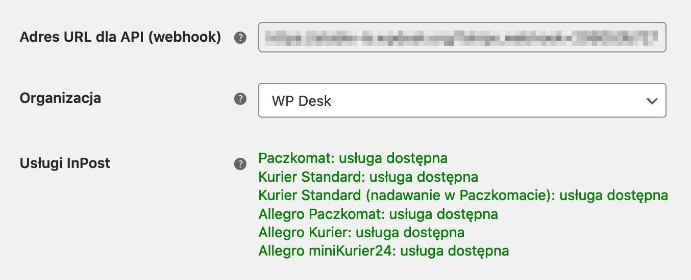 InPost WooCommerce Webhook, organizacja, usługi InPost