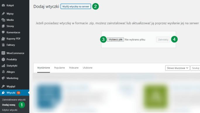 Instalacja wtyczki WordPress WooCommerce