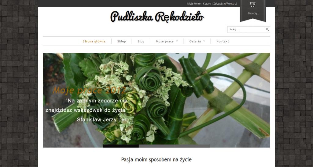 Budowa strony internetowej Pudliszka.pl