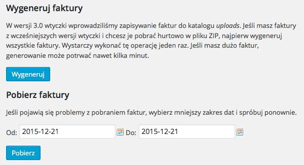 Hurtowe Pobieranie Faktur Wordpress