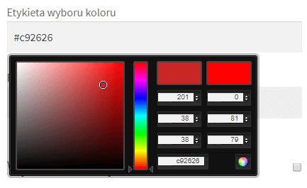 Wybór koloru - pole w sklepie