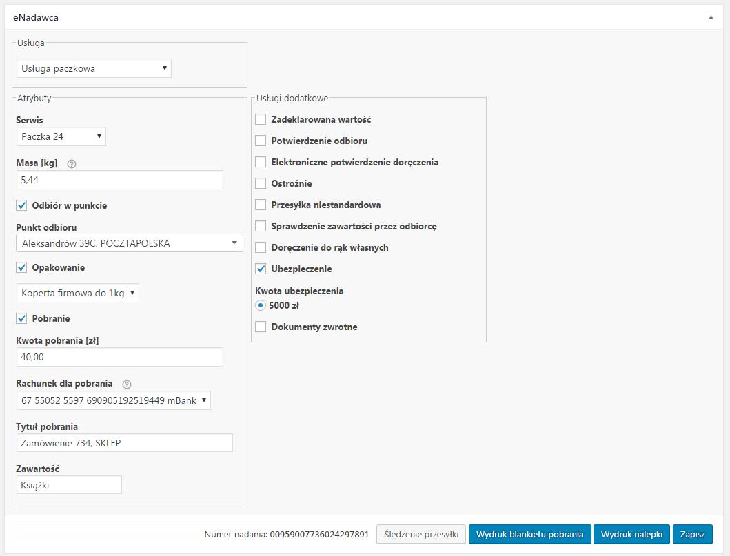 1935ea632f193f Opis; Opinie (10). Wtyczka eNadawca WooCommerce umożliwia łatwą i szybką  integrację z usługami Poczty Polskiej.