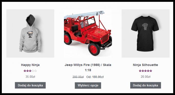 Przykład promocji w katalogu produktów