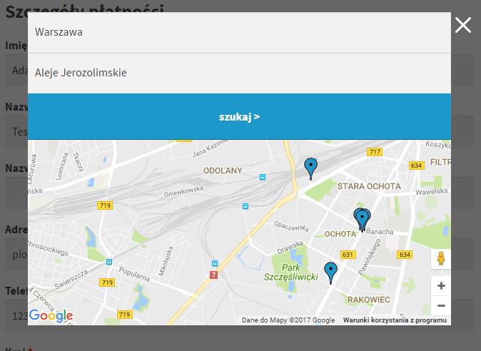 a75fee9ec63b9f Paczka w Ruchu WooCommerce – wybór punktu odbioru na mapie