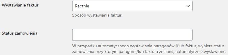 Konfiguracja faktur we wtyczce wFirma