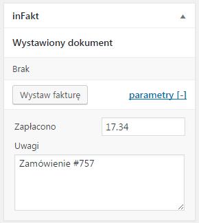 Integracja WooCommerce z inFakt – wystawianie faktury