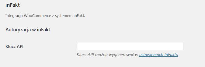Autoryzacja integracji WooCommerce z inFakt
