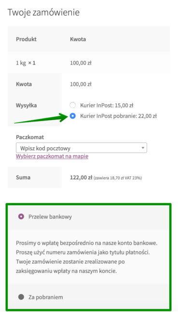 Kurier InPost - Pobranie