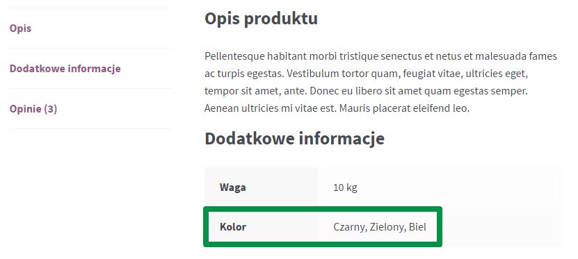 Produkt zewnętrzny WooCommerce - dodatkowe informacje