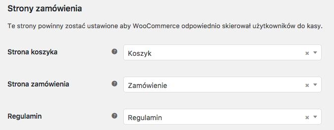 Strony zamówienia WooCommerce