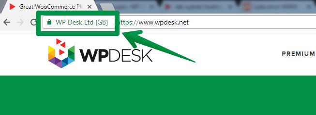 Certyfikat SSL EV - pasek adresu