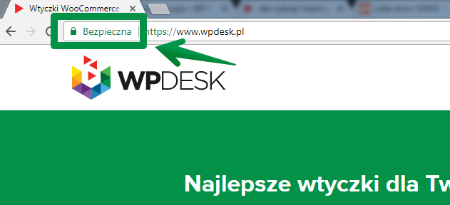 Certyfikat SSL - pasek adresu