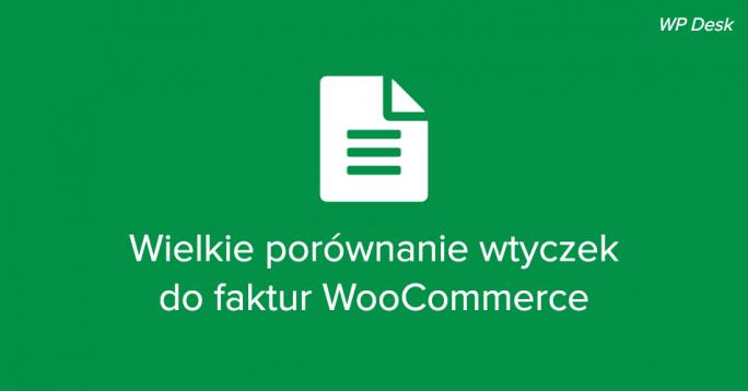 Wtyczki do faktur WooCommerce