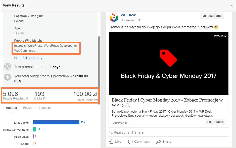 Promocja FB Ads - WP Desk Black Friday