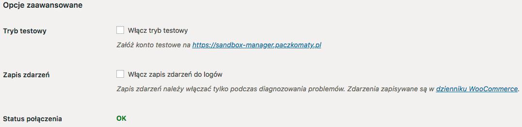 Opcje zaawansowane we wtyczce InPost WooCommerce