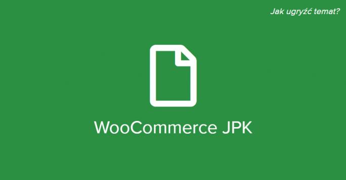 JPK w Fakturach WooCommerce