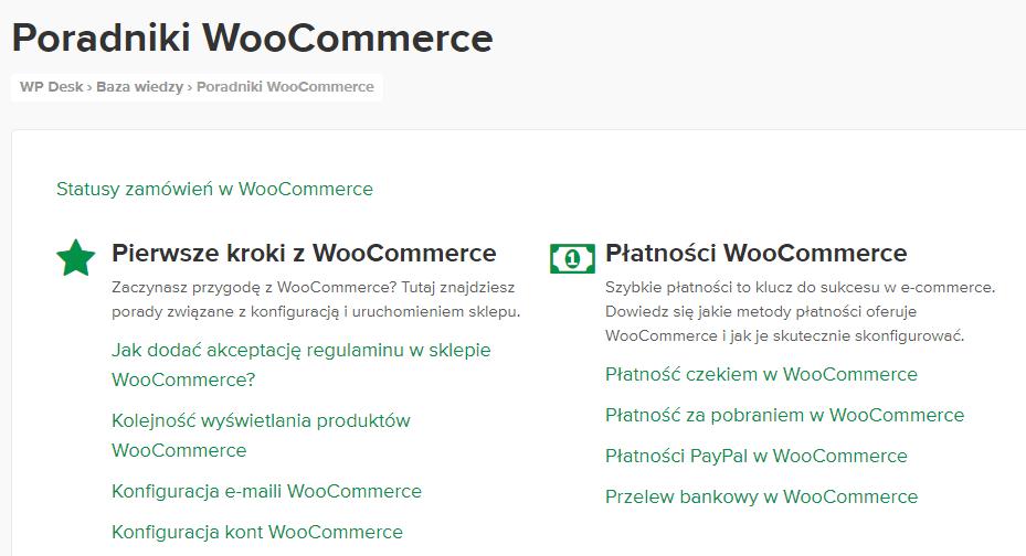 5 dla WordPressa - dokumentacja WooCommerce