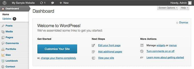Stary wygląd WordPressa