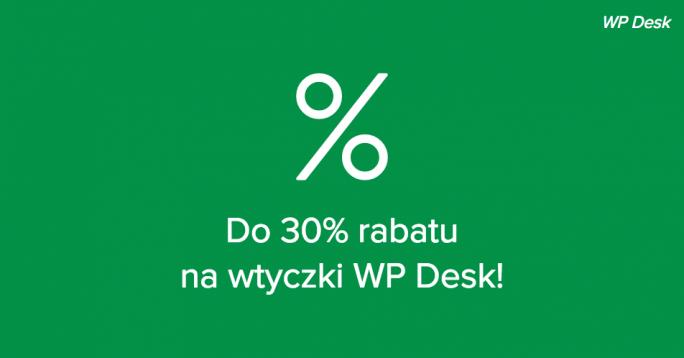 Przez cały sierpień do 30% rabatu na wtyczki WP Desk!