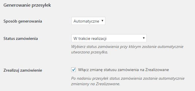 WooCommerce InPost - automatyczne generowanie etykiet