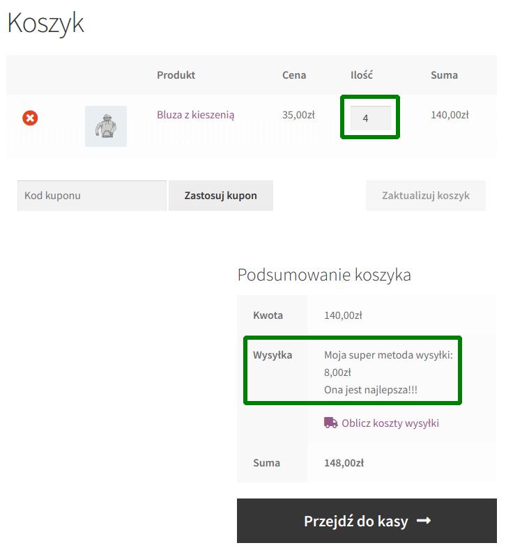 Wysyłka za 8 zł