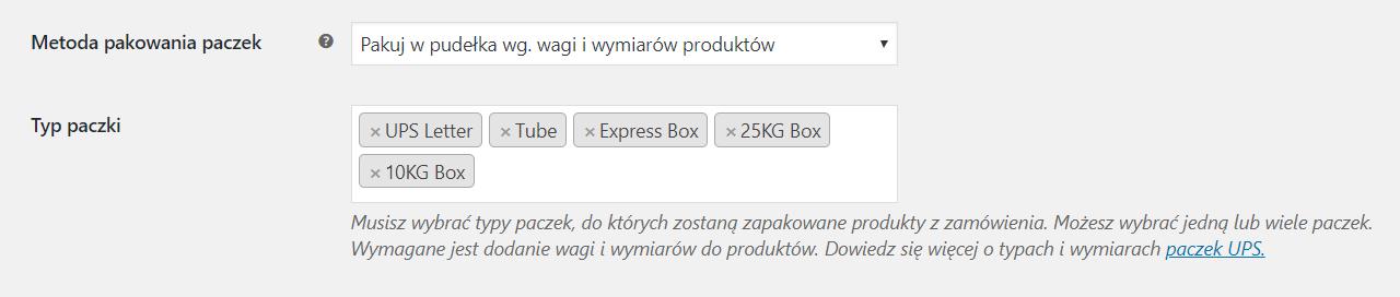 Automatyczny podział zamówienia na paczki UPS w WooCommerce
