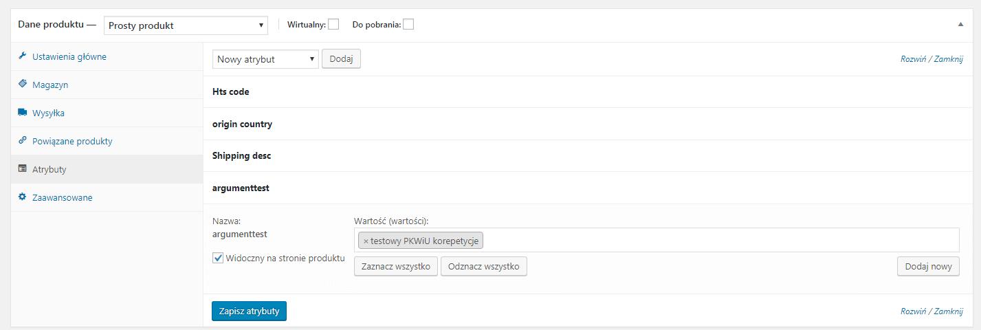 Dodanie testowego PKWiU we wtyczce iFirma WooCommerce