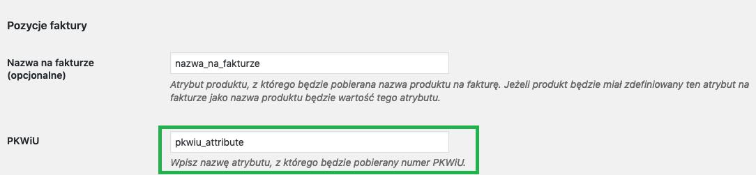 Konfiguracja PKWiU we wtyczce iFirma WooCommerce