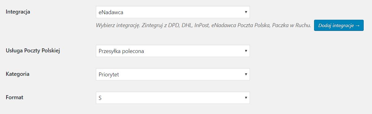 Integracja WooCommerce z eNadawcą Poczty Polskiej