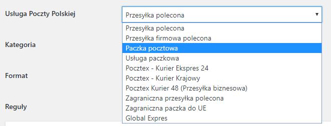 Usługi poczty Polskiej w WooCommerce
