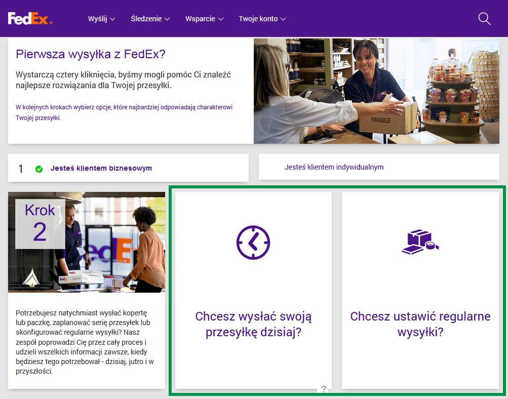 FedEx - Częstotliwość wysyłek