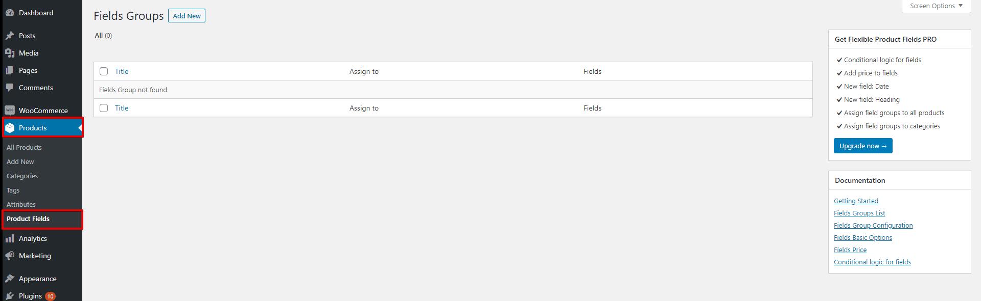 WooCommerce Flexible Product Fields WPML settings