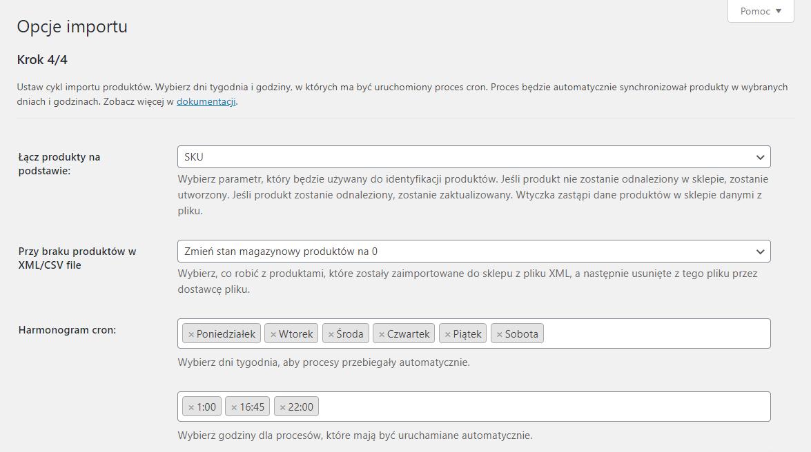 Opcje importu produktów hurtowni Dropshipping XML WooCommerce
