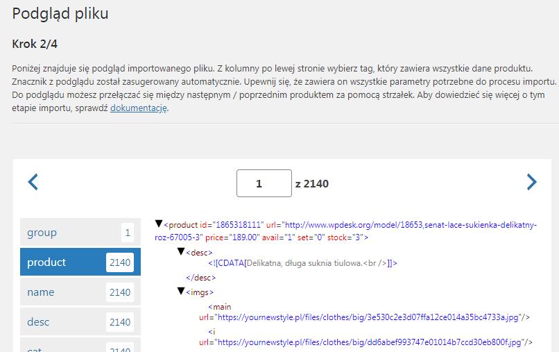 Dropshipping XML WooCommerce - Import, drugi krok