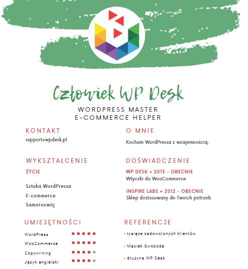 CV kandydata WP Desk