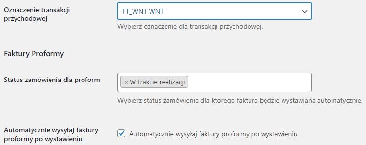 Faktura proforma w WooCommerce inFakt