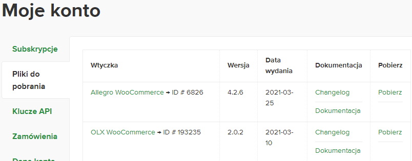 Wtyczki Allegro i OLX dla sklepu WooCommerce