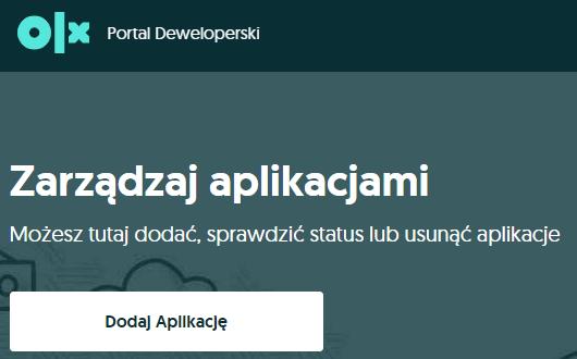Dodawanie nowej aplikacji we wtyczce OLX dla WooCommerce