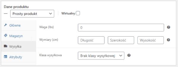 Dropshipping XML WooCommerce - Ustawienia Wysyłka