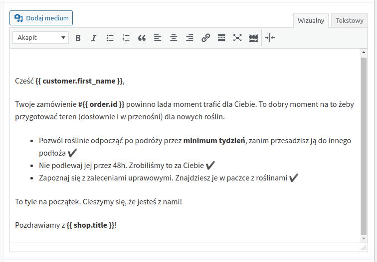 Email powitalny wiadomość