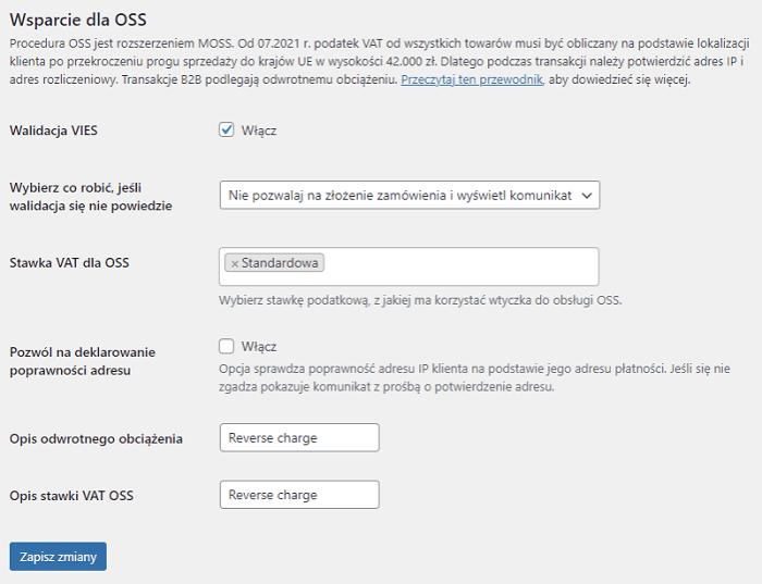 Mechanizm OSS w WooCommerce we wtyczce Faktury WooCommerce