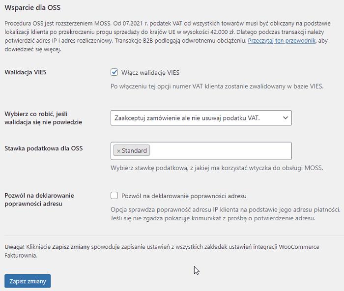 Fakturownia WooCommerce mechanizm OSS