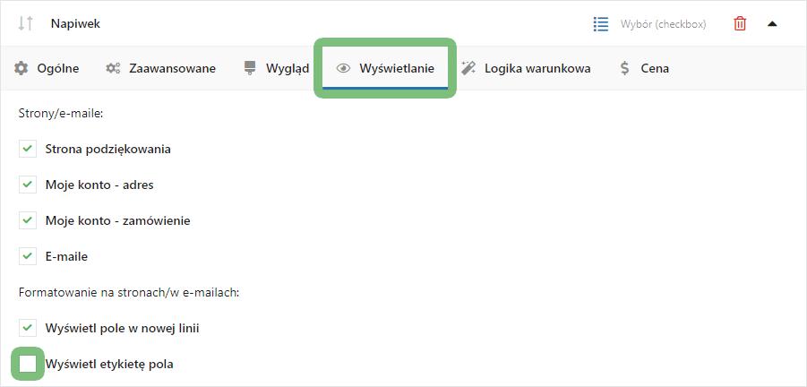 Napiwek w sklepie WooCommerce jako Checkbox - Wyświetlanie